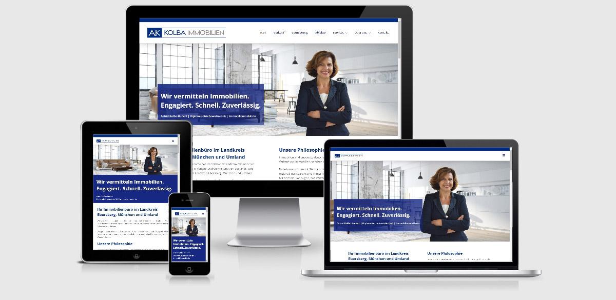 Website für Kolba Immobilien geht live | digital voran